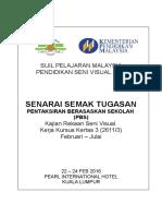 Senarai Semak Tugasan Krsv 2016