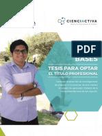 Bases Tesis Para Optar Titulo Profesional Web