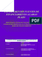 Tema 7.1 - Fuentes de Financiamiento a LP (1)