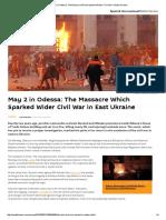 May 2 in Odessa_ the Massacre Which Sparked Wider Civil War in East Ukraine