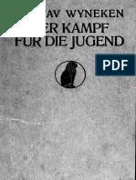 WYNEKEN, G. Der Kampff Für Die Jugend