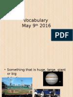 vocabulary 5-9-16