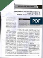 LOS PRINCIPIOS DE LA LEY DEL SERVICIO CIVIL - AUTOR - JOSÉ MARÍA PACORI CARI