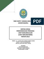 Kertas Kerja Perkhemahan Perdana 2015