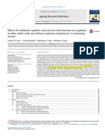 Effects of Combined Cognitive and Exercise Interventions on Cognition in Older Adults With and Without Cognitive Impairment- A Systematic Review