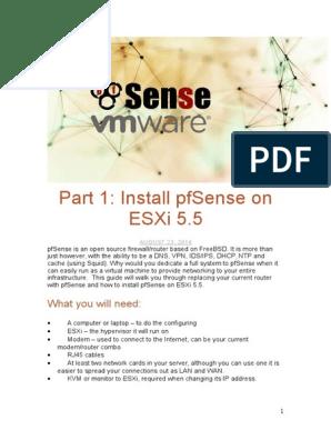 pfSense VMware ESXi | Ip Address | Computer Network