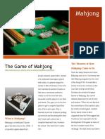 mahjong newsletter