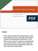 RDA (Resource Description & Access)