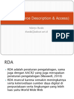 RDA (Resource Description & Access)
