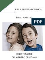 Didactica de La Escuela Dominical Libro Maestro