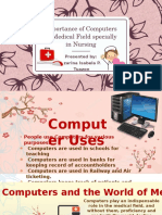 Importance of Computers in Medical Field Specially in Nursing Profession