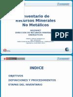 Inventario de Recursos Minerales No Metlicos Peru
