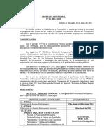 Ordenanza Nº 010 Cronograma de Acciones Para El Pp-2012