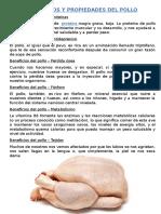 Beneficios y Propiedades Del Pollo