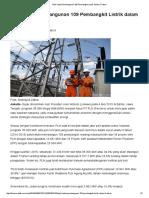 2016 - PLN Kebut Pembangunan 109 Pembangkit Listrik Dalam 5 Tahun