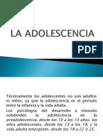 Clase 4 La Adolescencia