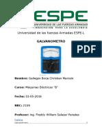 Ensayo Galvanometro