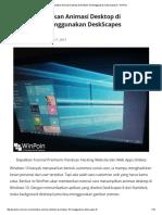 Cara Menampilkan Animasi Desktop Di Windows 10 Menggunakan DeskScapes