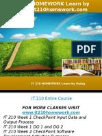 IT 210 HOMEWORK Learn by Doing-it210homework.com