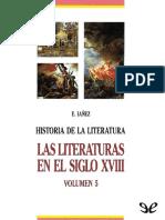 Iáñez, Eduardo (1990) - Las Literaturas en El Siglo XVIII.