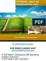 IT 240 TUTORIAL Learn by Doing-it240tutorial.com