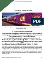 Top 5 Luxury Trains of India, Luxury Rail India _ Tourism Infopedia