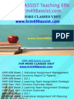 HRM 498 ASSIST Teaching Effectiverly/hrm498assist.com