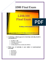 LDR 300 Final Exam Answers