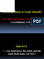 01-03-16 the Bible Only Makes Christians Only - 1 Corinthians 1