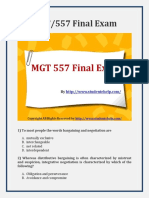 MGT-557 Final Exam (Latest) - Assignment