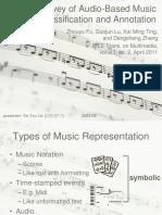 Audio-Based Music Classification