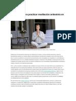 Articulo Seis Pasos Para Practicar Meditacion Antiestres en Casa Jmsl9uA