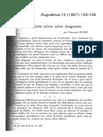 L'Eucharistie selon saint Augustin