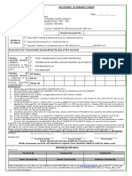 Account Closure Form