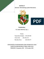 Referat Diagnosis Kelainan Hematologi Pada Neonatus