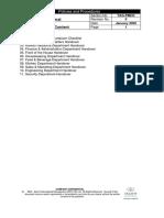 GM Handover Checklist