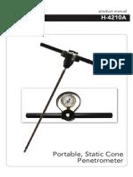 Portable Static Cone Penetrometer