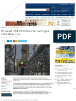 RI need US$ 20 billion to build gas infrastructure