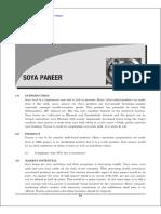 Soya Paneer Project report