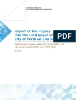 Report of the Inquiry into the Lord Mayor of the City of Perth Ms Lisa Scaffidi