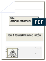 Manuel de Gestion Administrative Et Financiere de La Capa