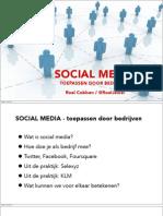 Social media - toepassen door bedrijven
