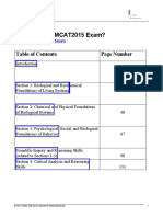 2015 MCAT Syllabus