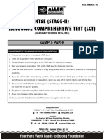 NTSE Stage 2 - Very Important