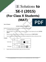 Solution Mat Ntse Stg1 -Delhi (2015-16)