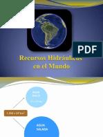 3. Recursos Hidráulicos en El Mundo