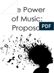power of music proposal
