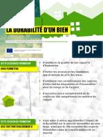 Estimer la durabilité d'un bien (French)