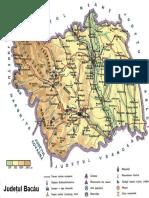 Harta Judetul Bacau