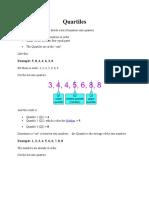 Quartile Deviationsand Standard Deviation